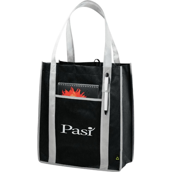 Imprinted PolyPro Non-Woven Contrast Carry-All Tote