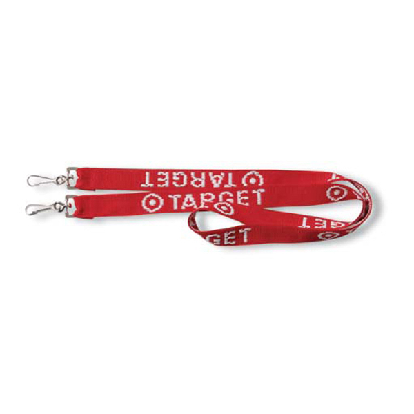 Imprinted Classic woven Tradeshow Lanyard