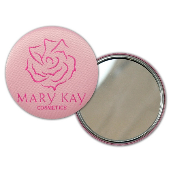 Promotional Custom fabric covered button with mirrored back