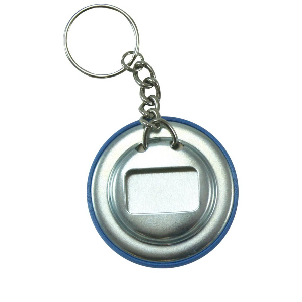 promotional fabric covered button keychain bottle opener usimprints. Black Bedroom Furniture Sets. Home Design Ideas