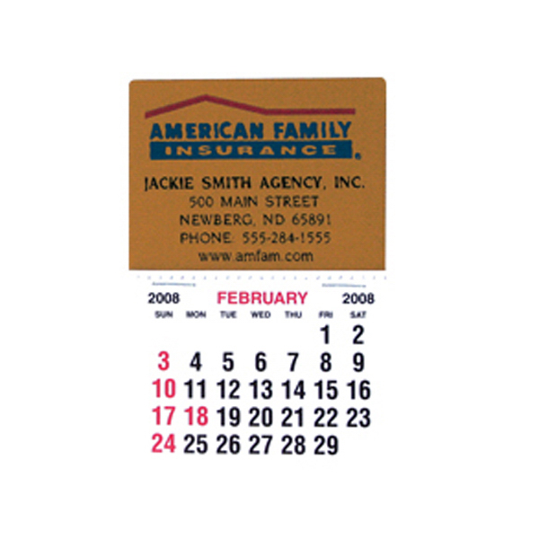 Personalized Rectangle shaped stick-on fabric calendar