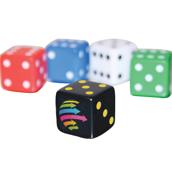 "Imprinted Custom 5/8"" Opaque Dice"
