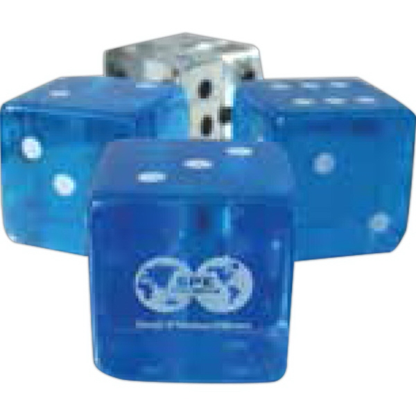 "Customized Custom 5/8"" Transparent Dice"