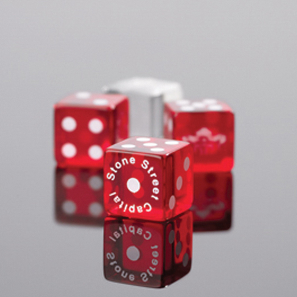 "Custom Custom 3/4"" Transparent Dice"