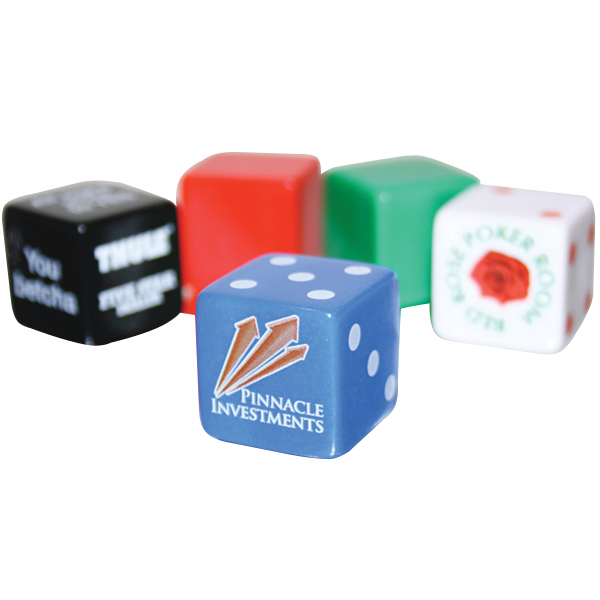 "Personalized Custom 3/4"" Opaque Dice"