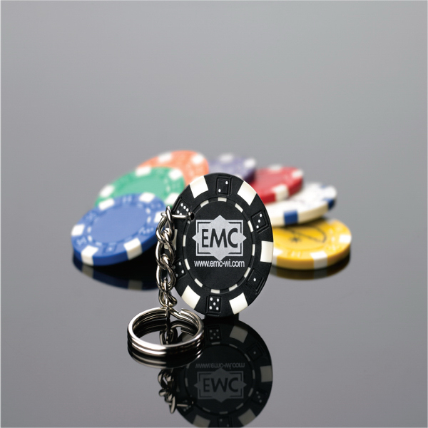 Personalized Clay Poker Chip Key Ring