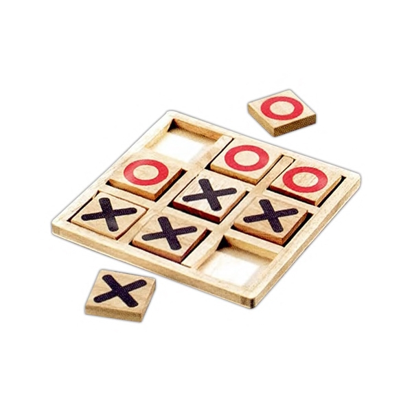 Promotional Imprinted Wood Tic-Tac-Toe Game