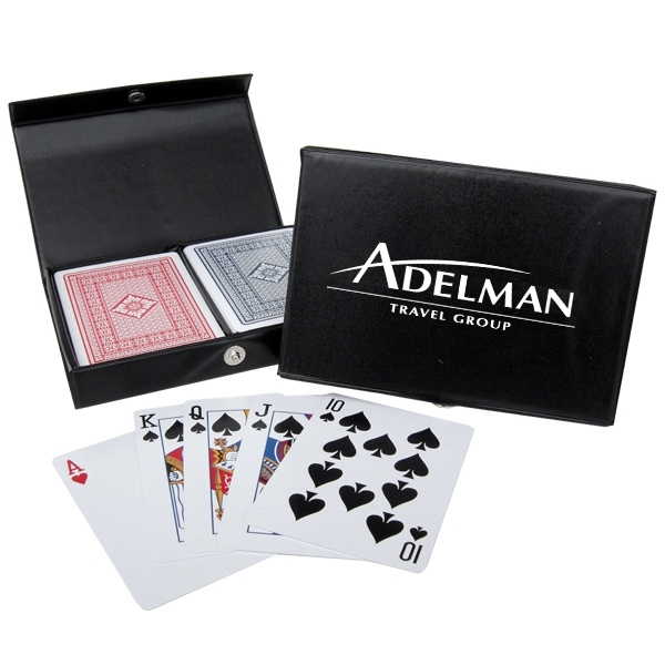 Customized 100% Plastic Playing Cards in Imprinted Case
