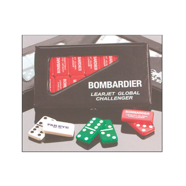 Printed Double 6 Domino Sets w/Custom Imprinted Vinyl Case