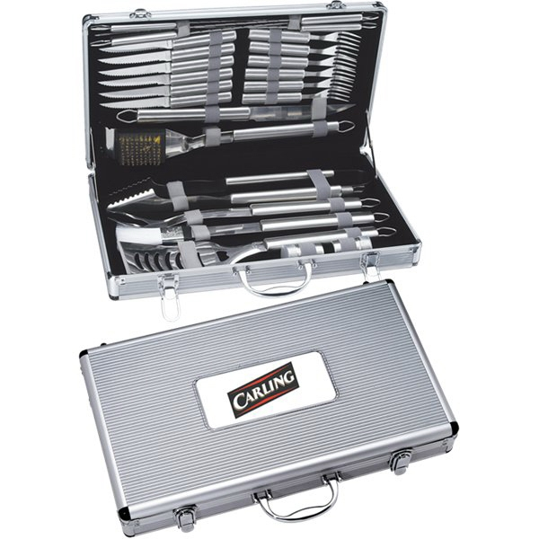 Imprinted 24 piece Deluxe BBQ set