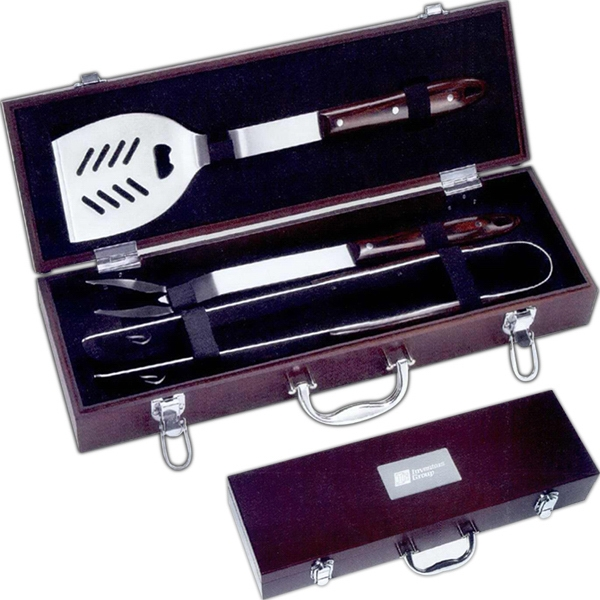Personalized 3 piece Executive Barbecue Set