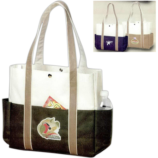 Imprinted Contrast Boat Tote