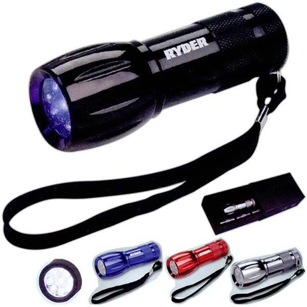Customized Tactical LED flashlight (9 LED)