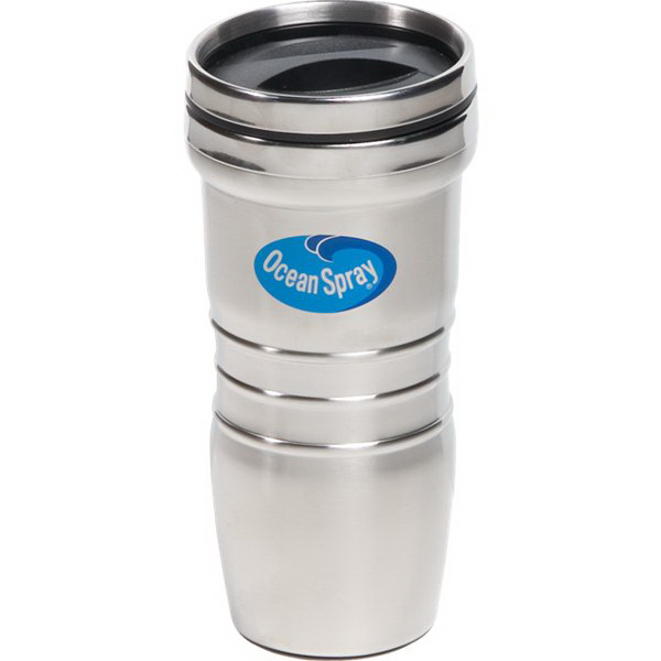 Imprinted 16 oz. Stainless Steel Retro Tumbler