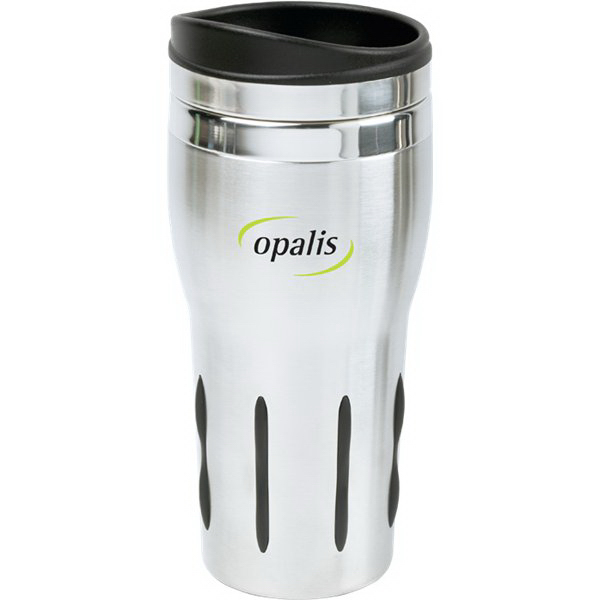 Imprinted 14 oz Rubber Grip Stainless Steel Tumbler
