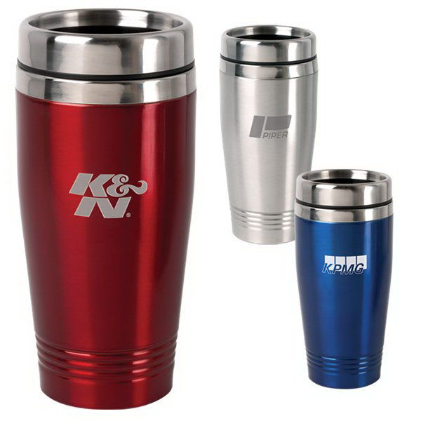 Imprinted 15 oz. Stainless Steel Tumbler