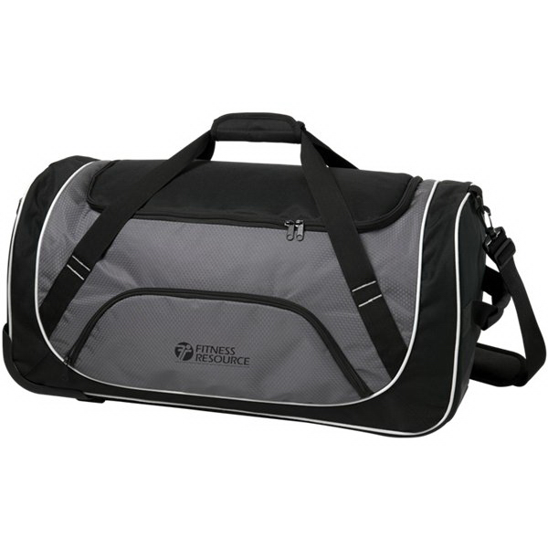 Imprinted Gear Rolling Duffel