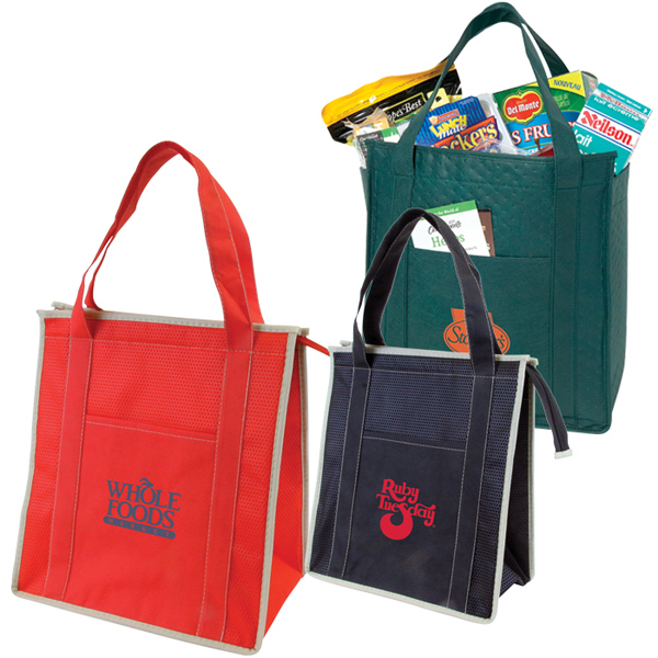 Imprinted Non-Woven Insulated Zipper Tote
