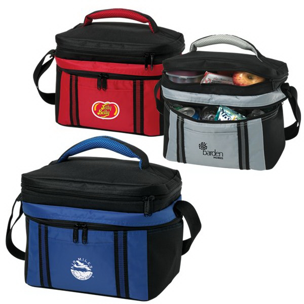 Imprinted 12 Can Duet Cooler Bag