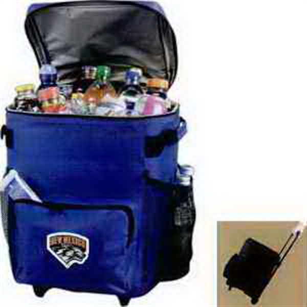 Customized 48 Can Rolling Cooler Bag