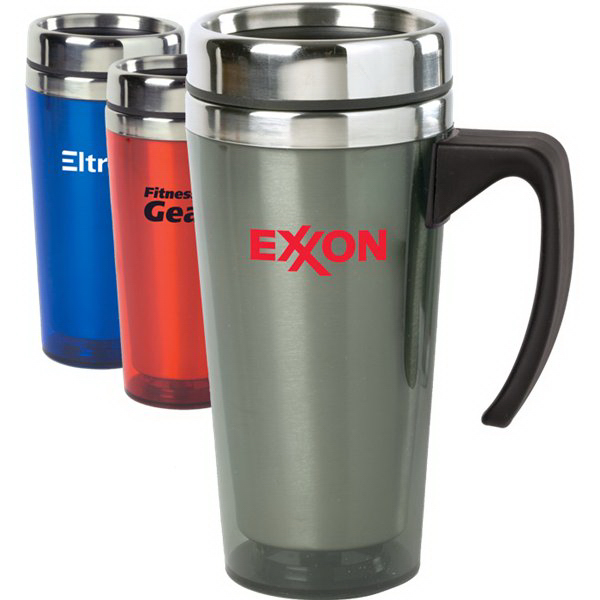 Printed 15 oz. Color Stainless Steel Travel Mug
