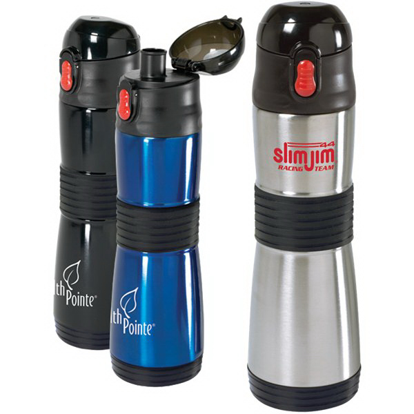 Imprinted 15 oz Easy-Grip S/S Vacuum Water Bottle