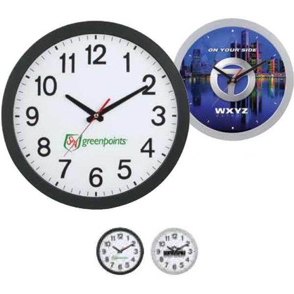 Printed 12-inch Slim Wall Clock