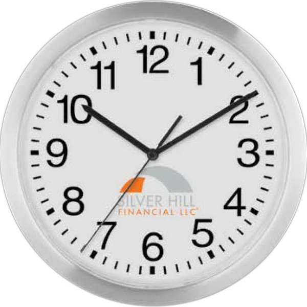 "Promotional 12"" Slim Metal Wall Clock"