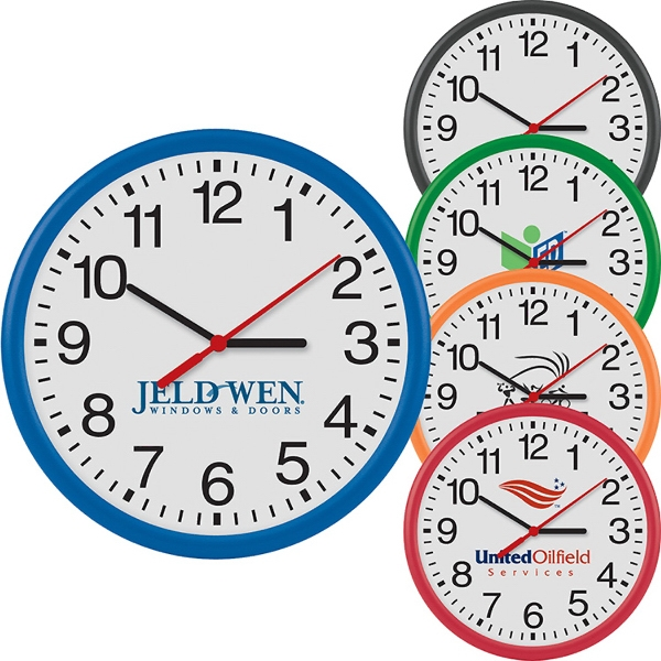 "Promotional 12"" Round Thin Wall Clock"