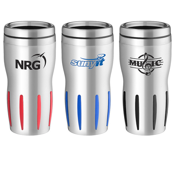 Customized 16 oz. Stainless Rib-Grip Tumbler