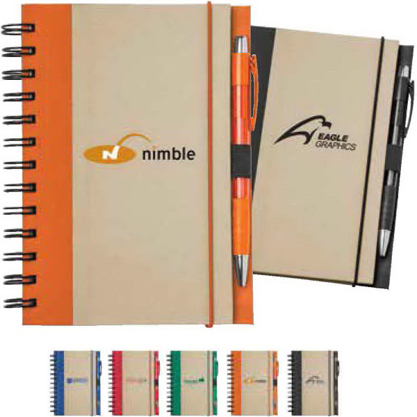 Personalized Recycled Color Spine Spiral Notebook
