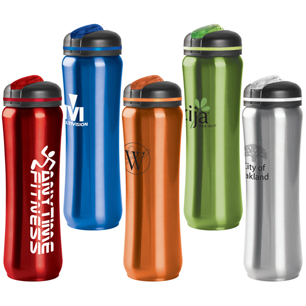 Printed Slim Stainless Water Bottle