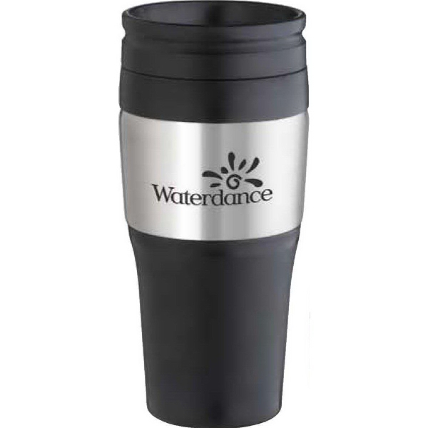 Customized 16 oz. 2-Tone Stainless Tumbler with Plastic lid