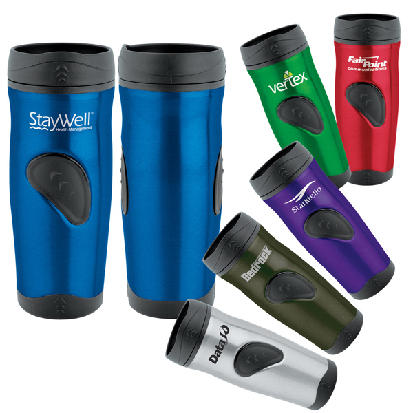 Imprinted Stainless Thumbprint Tumbler