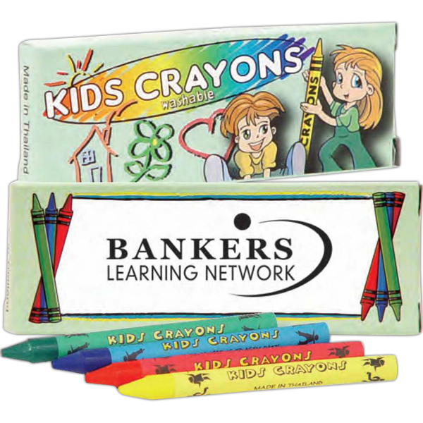 Personalized 4 Pack Of Washable Crayons