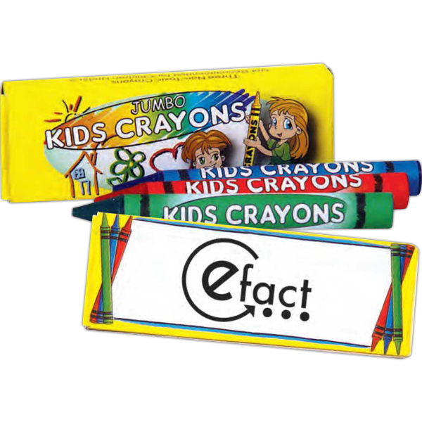 Personalized 3 Pack Of Jumbo Crayons