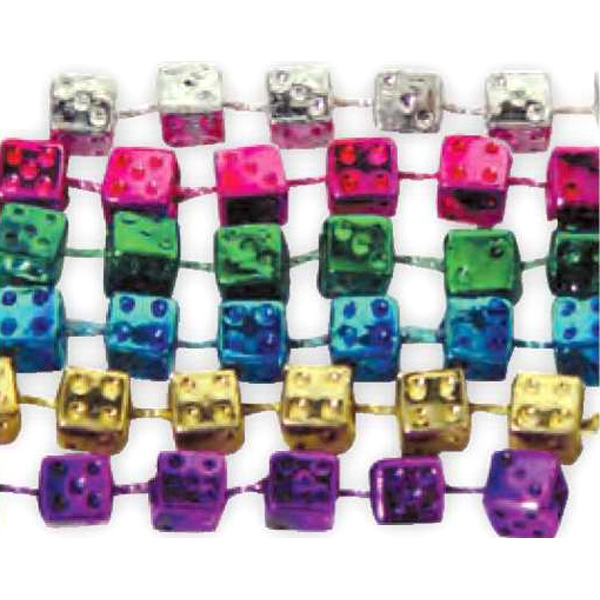 Promotional Necklace with dice beads