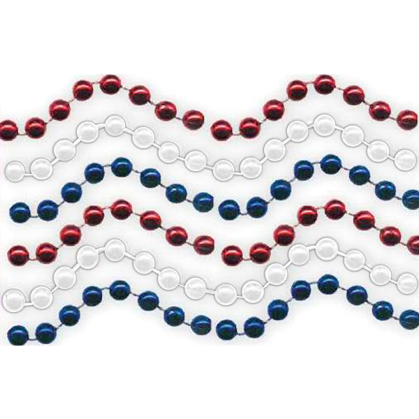 Personalized Red, White and Blue beads necklace