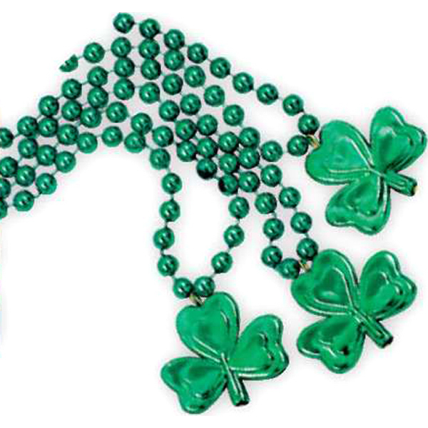 Personalized Shamrock beads necklace