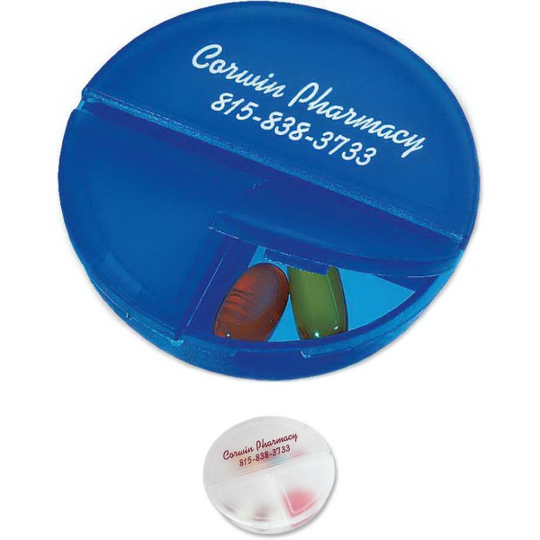 Promotional Round Pill Box