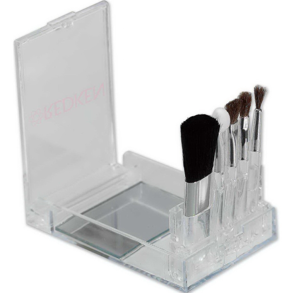 Imprinted Flip Mirror Brush Set