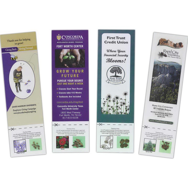 Promotional Bookmark with Seeds