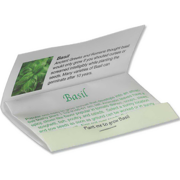 Imprinted Matchbook Seed Packet