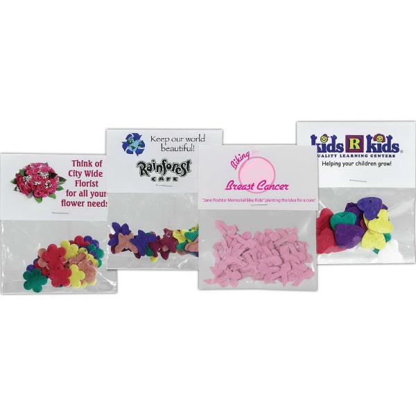 Personalized Shaped Seeded Paper Confetti