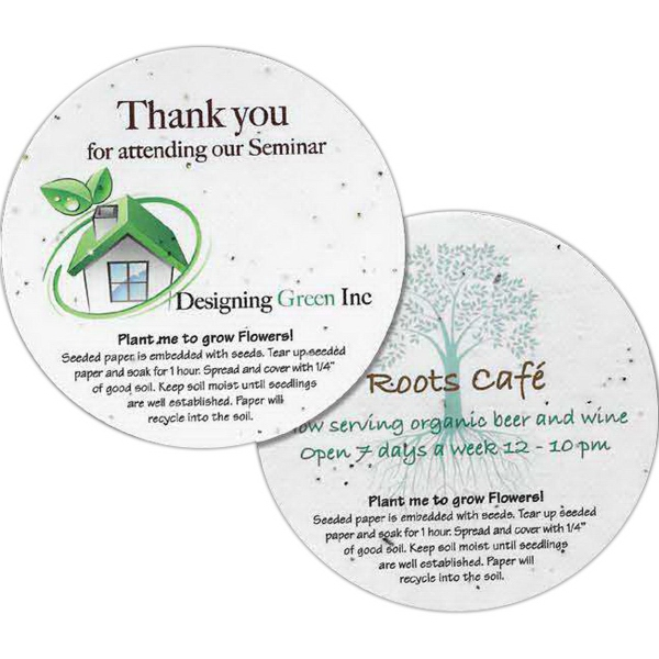 Promotional Seeded Paper Round Coaster