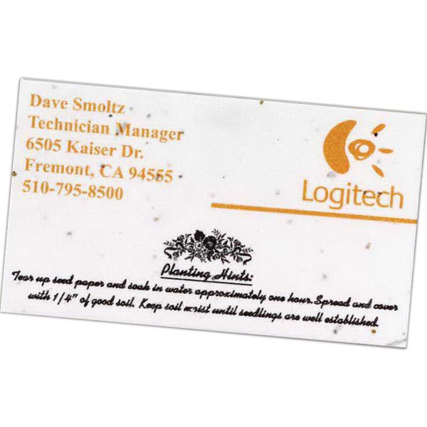 Promotional Seeded Paper Business Card