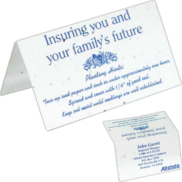 Customized Seeded Paper Business Card Tent