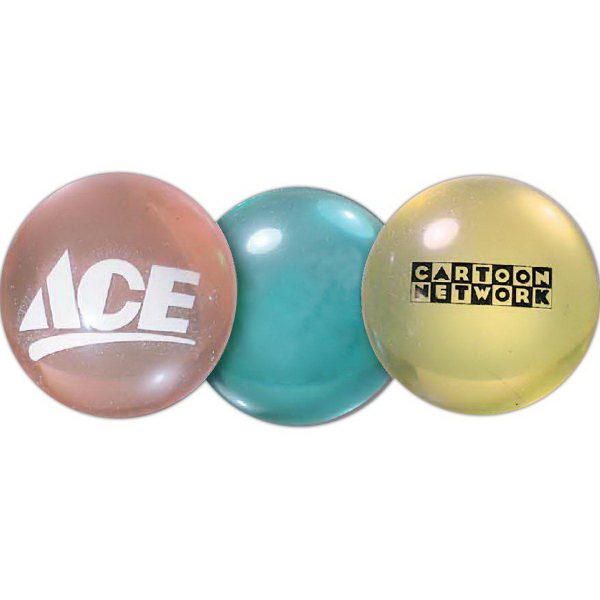 Personalized Super Bounce Ball - Clear Colors