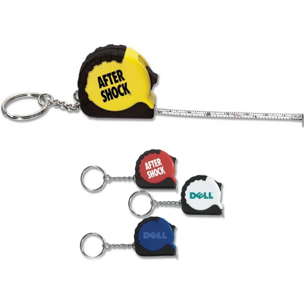Promotional Micro Tape Measure & Key Chain