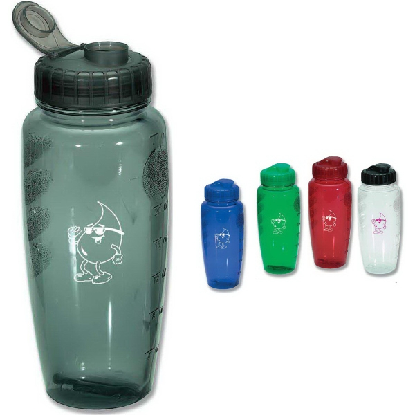Personalized Poly Clear Bottle, 30 oz